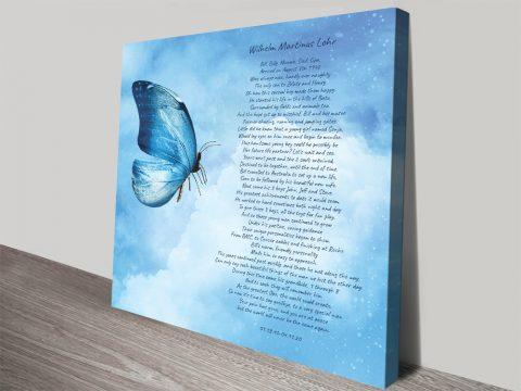 Buy a Bespoke Poem Print Great Gifts AU