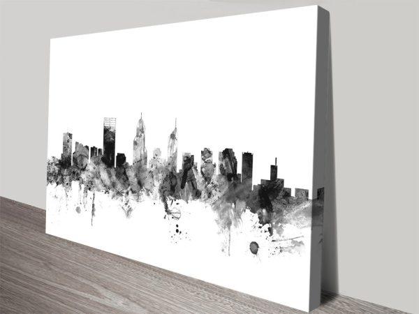 Perth Skyline by Michael Tompsett for Sale Online