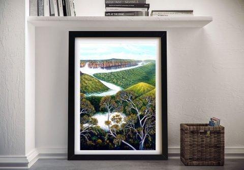 Framed Rolling Mist Linda Callaghan Print