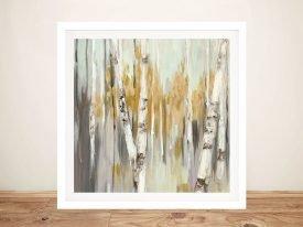 Buy a Framed Silver Birch Landscape Art Print