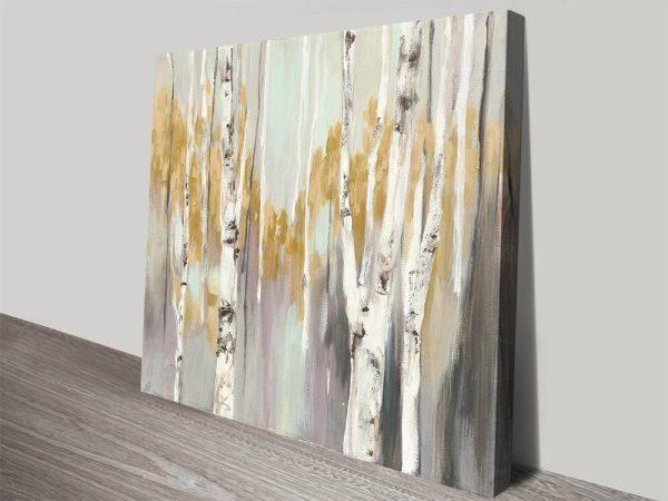 Silver Birch ll High-Resolution Canvas Art