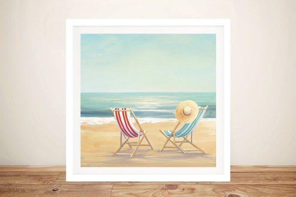 The Simple Life Framed Beach Scene Print