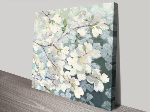 Magnolia Delight Stretched Canvas Print