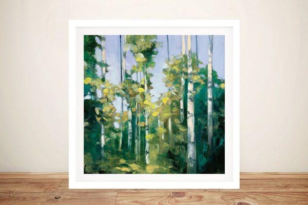 Birches Framed Julia Purinton Art for Sale AU