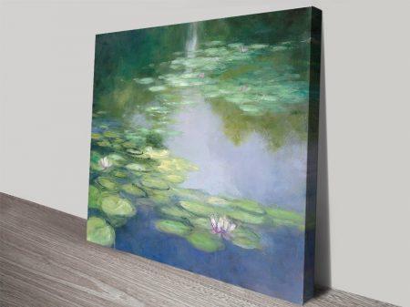 Blue Lily High-Resolution Canvas Art Print