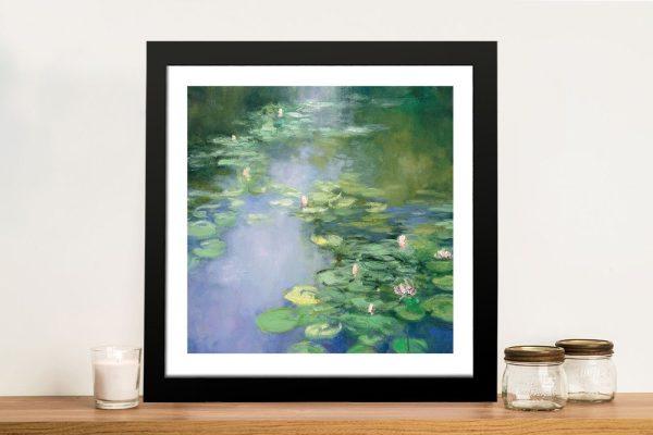 Blue Lily ll Framed Landscape Wall Art