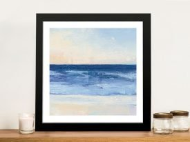 True Blue Ocean ll Print on Canvas