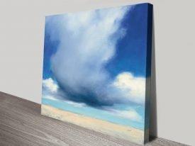 Beach Clouds Watercolour Wall Art