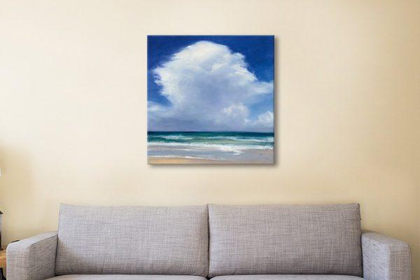 Beach Clouds ll Affordable Framed Art