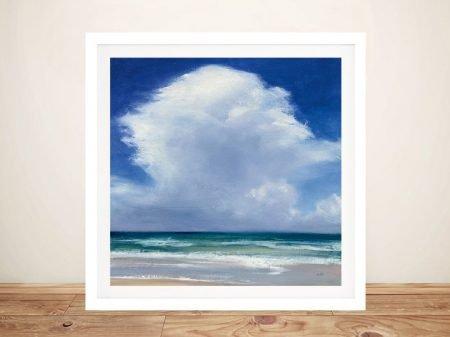 Beach Clouds ll Framed Seascape Artwork