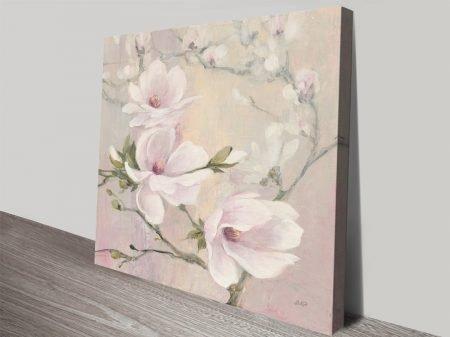 Buy Blushing Magnolias Floral Wall Art