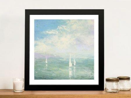 Setting Sail Framed Watercolour Art Print