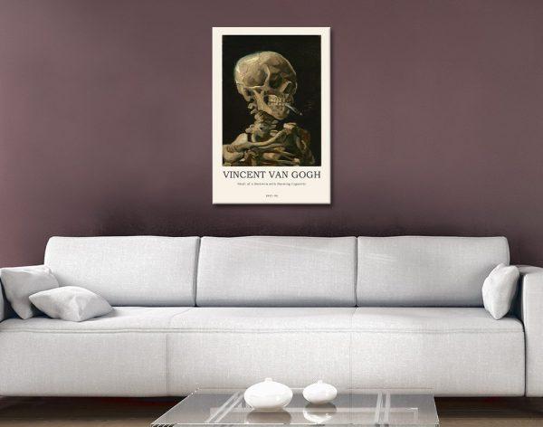 Skull of a Skeleton Ready to Hang Modern Print