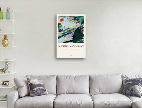 Romantic Landscape Ready to Hang Abstract Art
