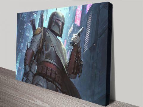Boba Fett Wall Art Great Gifts for Star Wars Fans