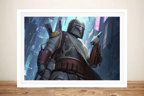 Boba Fett Framed Star Wars Wall Art