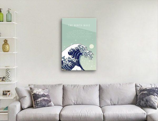 The Ninth Wave Inspirational Wall Art AU