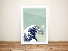 Great Wave Framed Inspirational Quote Art