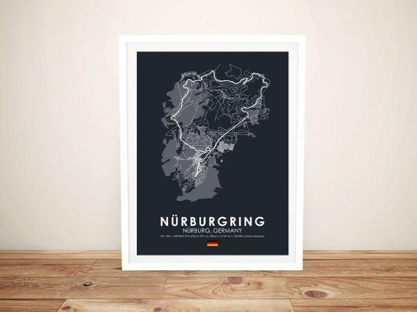 Framed Nurburgring Circuit Art Cheap Online
