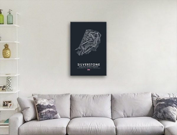 Silverstone Circuit Art Home Decor Ideas AU