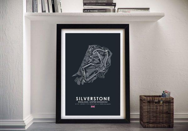 Framed Silverstone Grand Prix Artwork