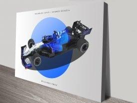 Williams F1 Racing Car Wall Art