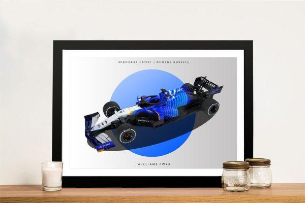 Framed Williams F1 Car Art Unique Gifts AU