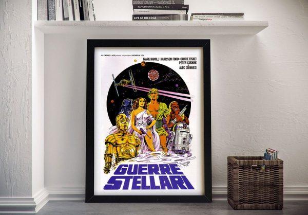 Framed A New Hope Italian Film Poster for Sale