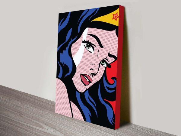 Wonder Woman Ready to Hang Wall Art Online