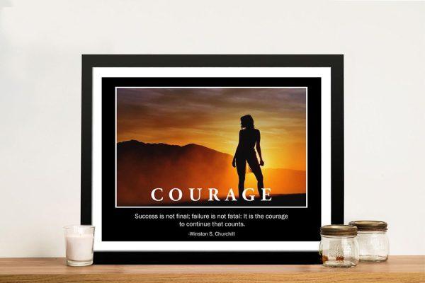 Framed Courage Art Unique Gift Ideas AU