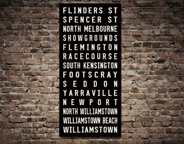 Ready to Hang Flinders Street Tram Scroll AU