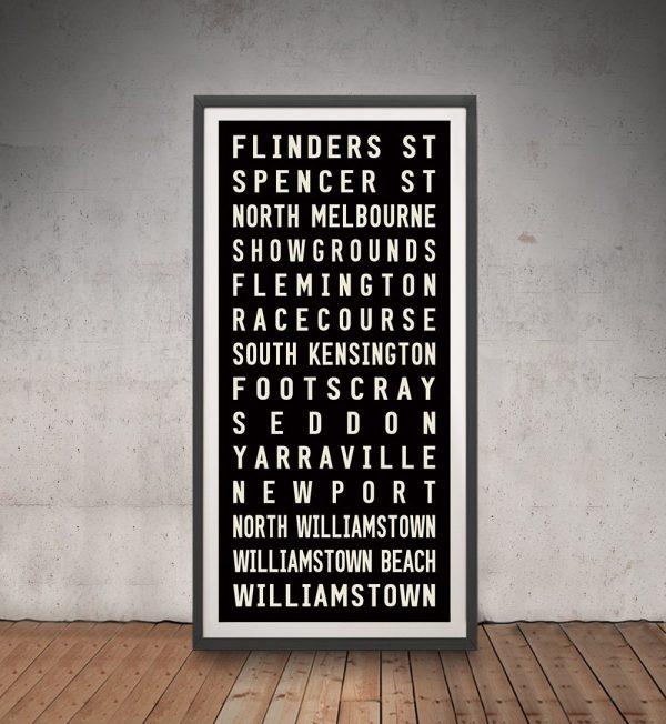 Framed Flinders Street Tram Banner for Sale