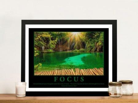 Focus Motivational Corporate Wall Art