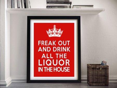 Framed Freak Out Keep Calm Wall Art