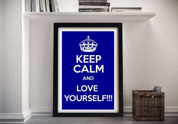 Framed Keep Calm Art Home Decor Ideas AU