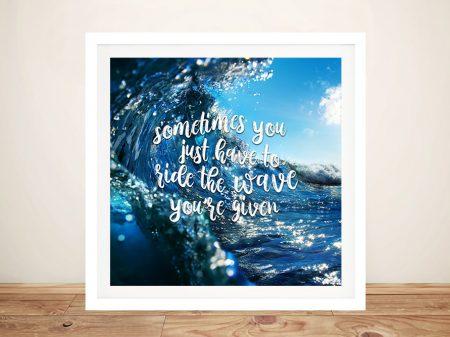 Ride the Wave Framed Motivational Art
