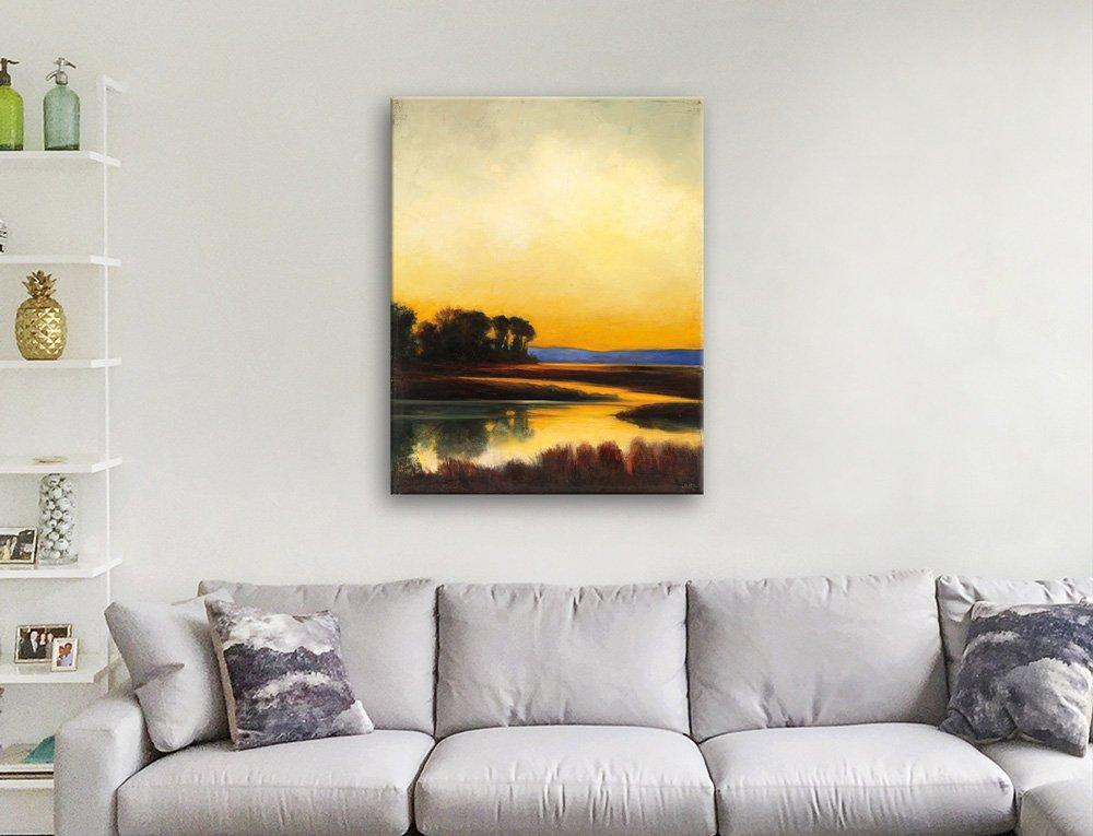 Yellow Twilight Landscape Art Cheap Online