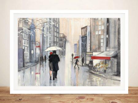 Spring Rain in New York Print on Canvas