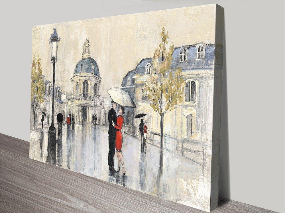 Spring Rain in Paris Quality Canvas Print