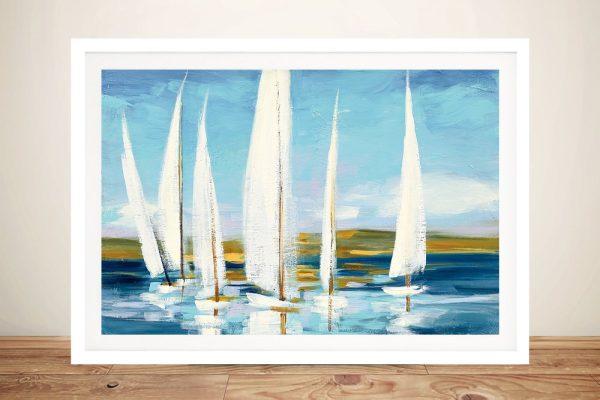 Horizon Framed Watercolour Seascape