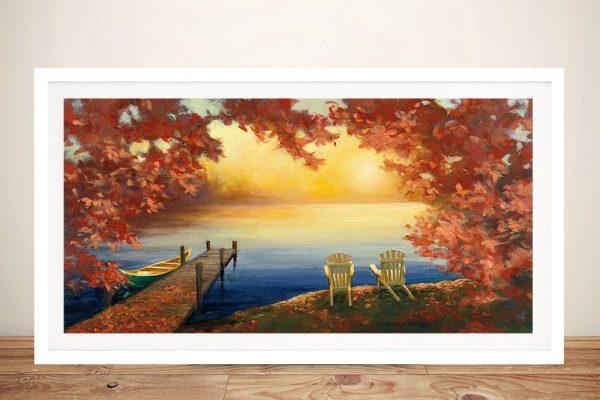 Autumn Glow Ready to Hang Panoramic Art