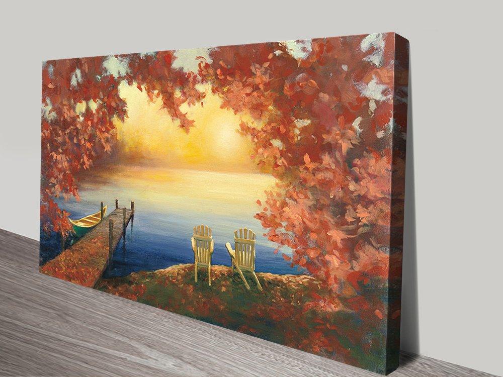 Autumn Glow Panoramic Landscape Wall Art