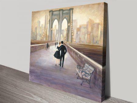 Bridge to NY Romantic Wall Art