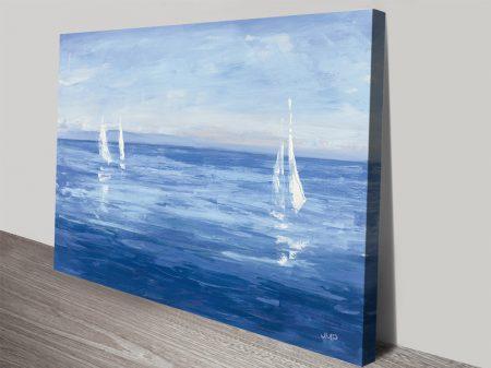 Open Sail Seascape Print on Canvas