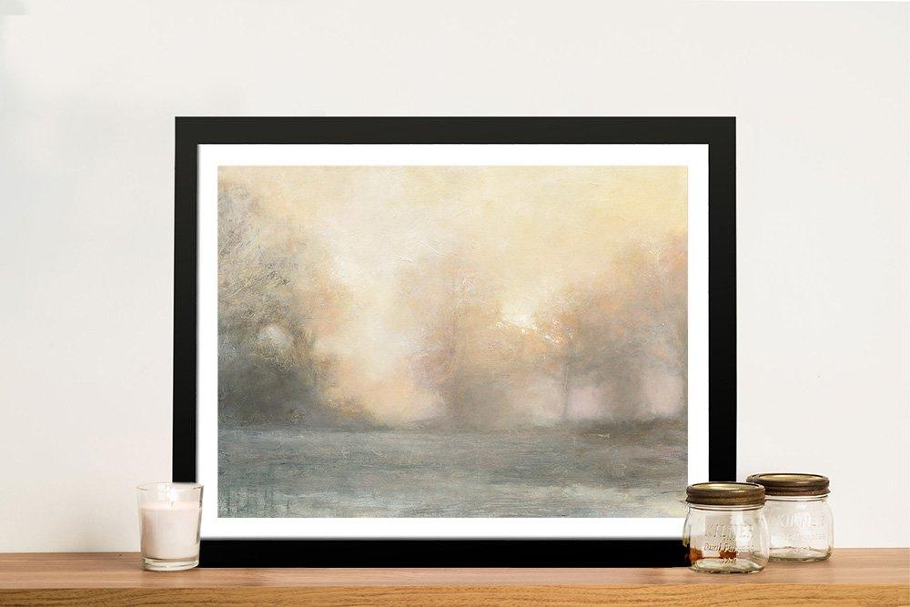 Framed Top of the Field Landscape Print