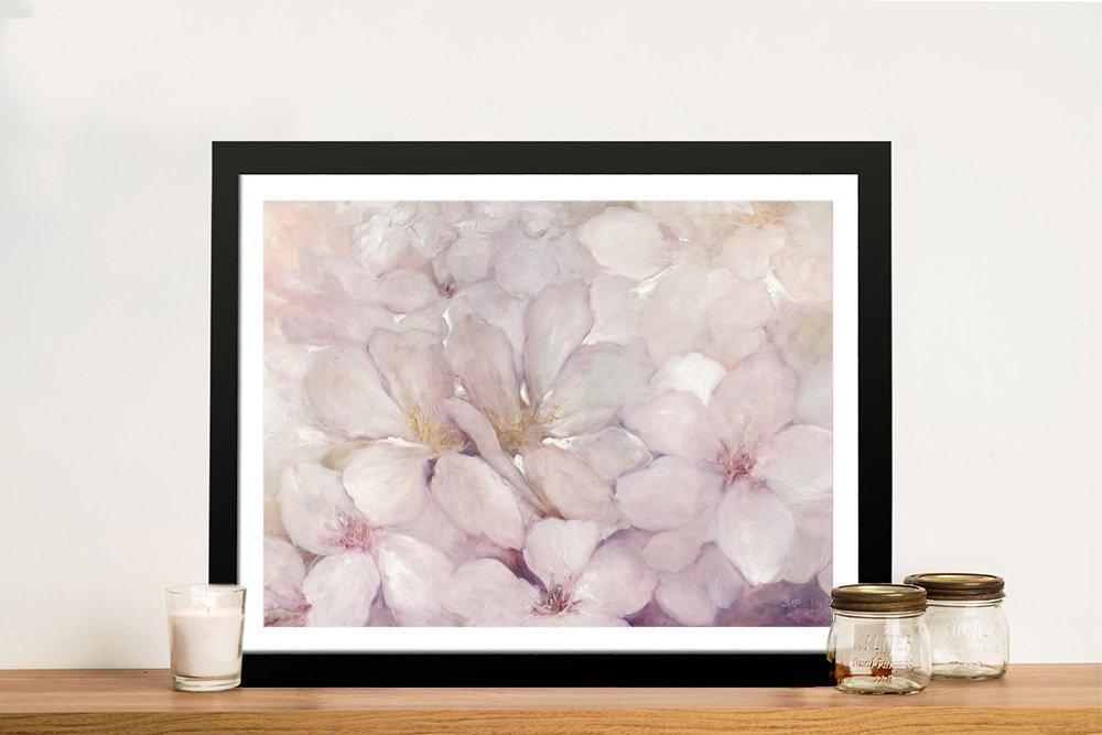 Apple Blossoms Framed Floral Art on Canvas