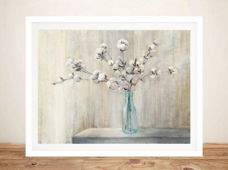 Cotton Bouquet Floral Watercolour Print