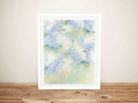 White Lilacs Framed Floral Canvas Artwork