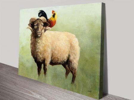 BFF l Watercolour Animal Canvas Print