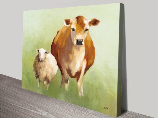 BFF ll Stretched Canvas Animal Artwork AU